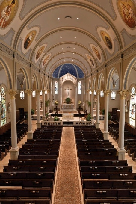 Interior of St. Mary Magdalen Catholic Church